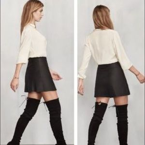 Reformation Skirts - NWT reformation cienega leather skirt Small